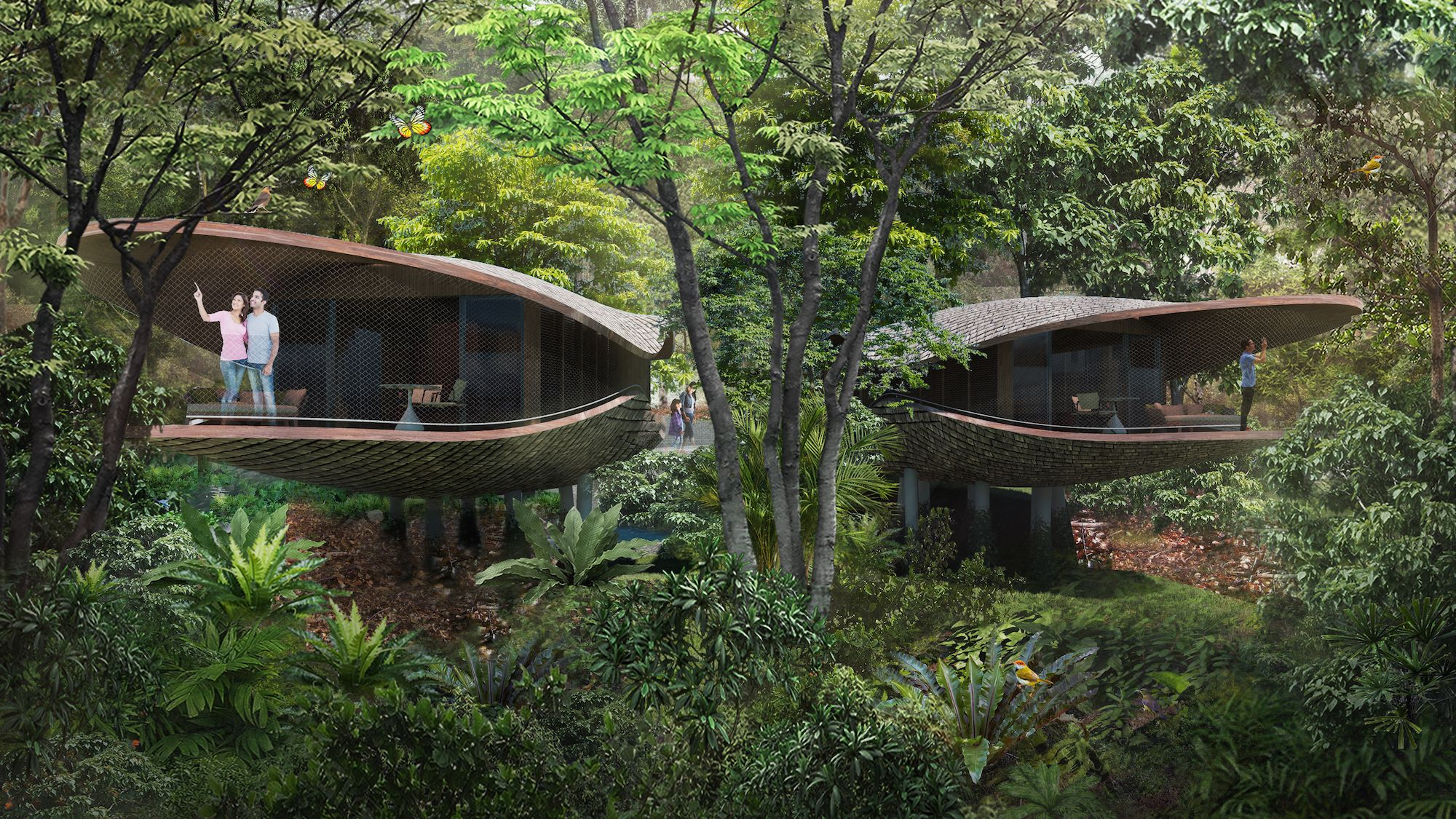 This Eco-Friendly Rainforest Resort Opening in Singapore Will Consist of 24 Tree Houses With 338 Rooms
