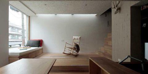 Architettura giapponese moderna per una casa a tokyo for Casa moderna senza tetto