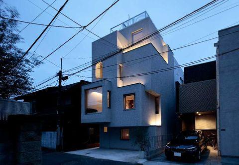 Architettura giapponese moderna per una casa a tokyo for Case realizzate da architetti
