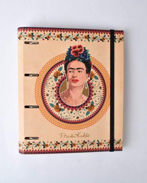 Archivador con la cara de Frida Kahlo