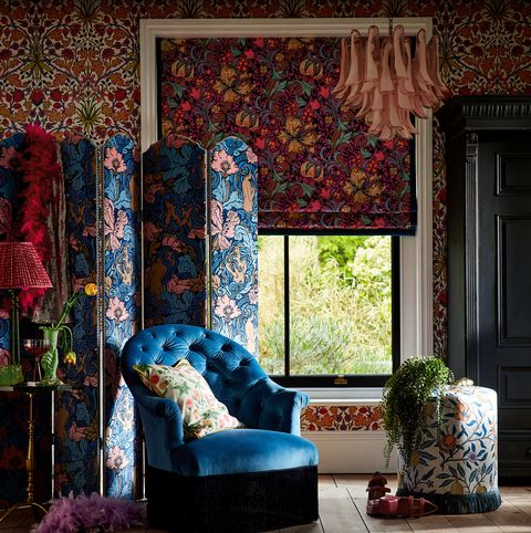 archive by sanderson design wallpaper, fabrics and chair