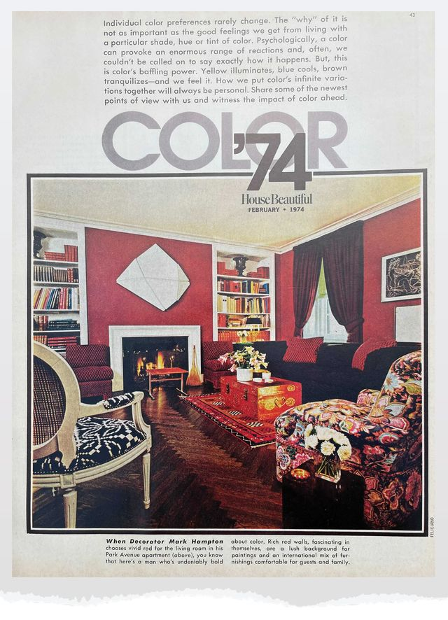 mark hampton's park avenue apartment, circa the february 1974 issue of house beautiful