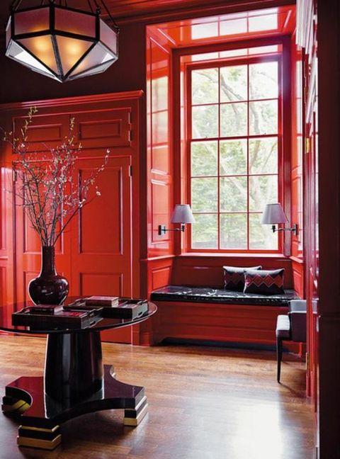 Ambientes decorados en color rojo