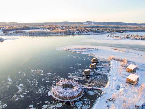 Arctic Bath spa hotel in Sweden