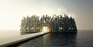 Arctic Bath, el primer hotel flotante en la Laponia sueca