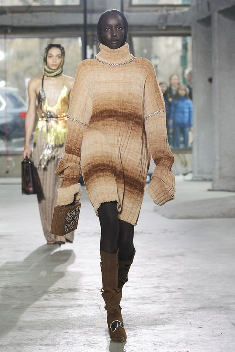 Area Herfst/Winter 2020 show op New York Fashion Week.