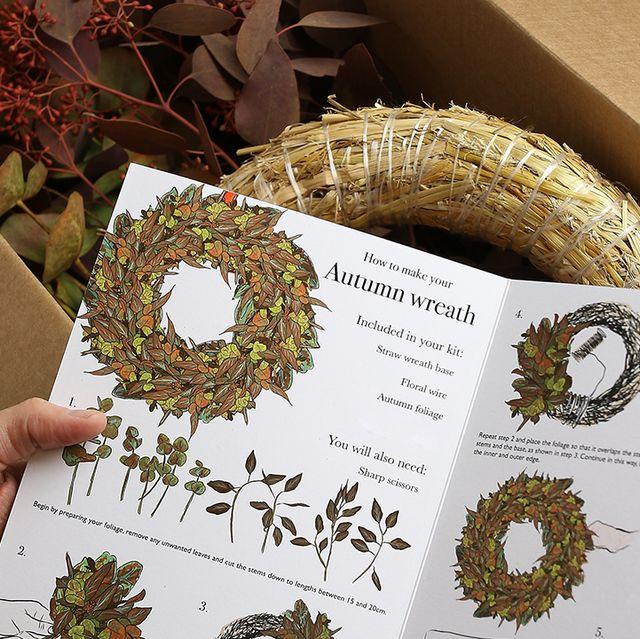 make your own autumn wreath kit