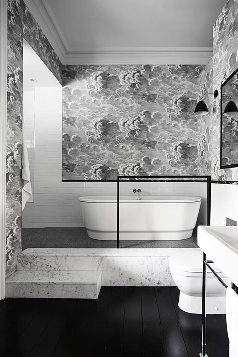 28 Bathroom Wallpaper Ideas That Will Inspire You To Be Bold Wallpaper For Bathrooms