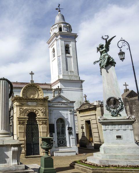 argentina, buenos aires, cementerio de la recoleta cemetery, historic mausoleums
