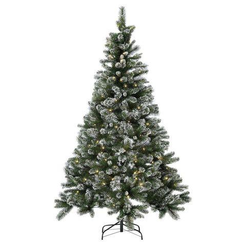 Argos Home 7ft Pre-lit Snow Tipped Christmas Tree