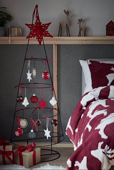 5ft metal space saving christmas tree, argos