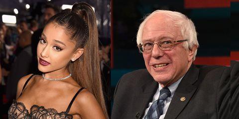 Ariana Grande and Bernie Sanders