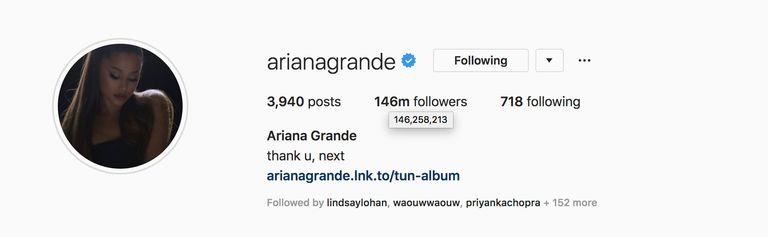 Followers Ariana Grande