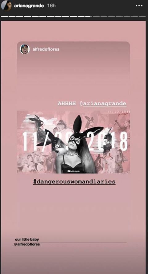 Ariana Grande Instagram stories