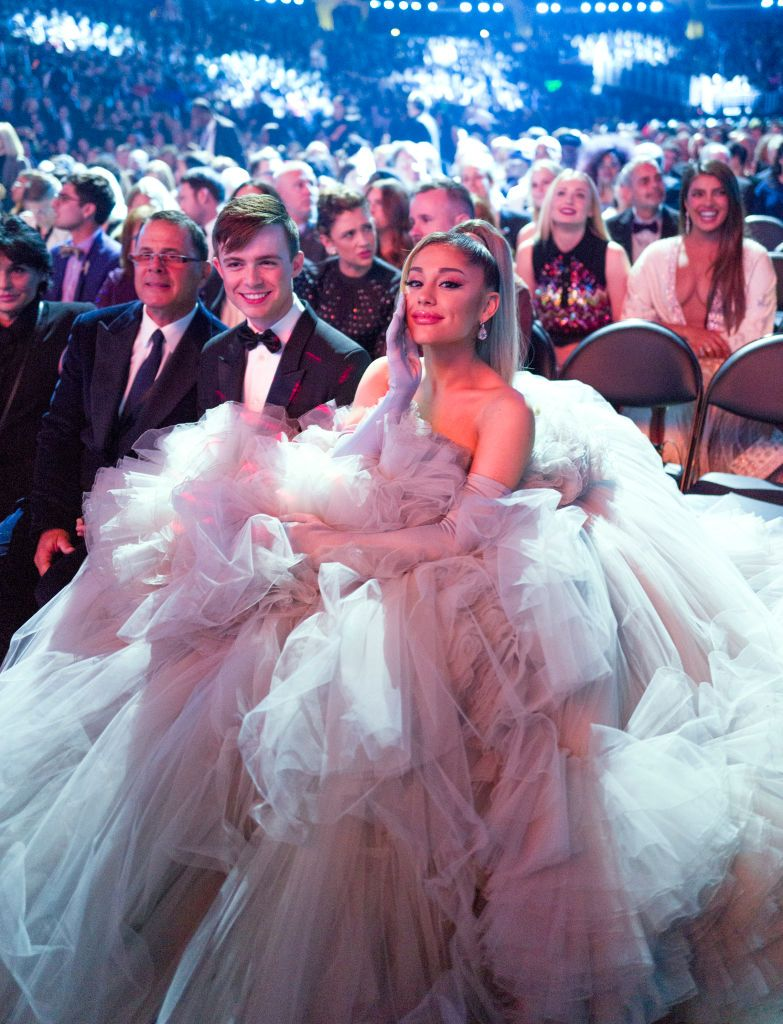 Ariana Grande wore the most enormous couture gown to the Grammys