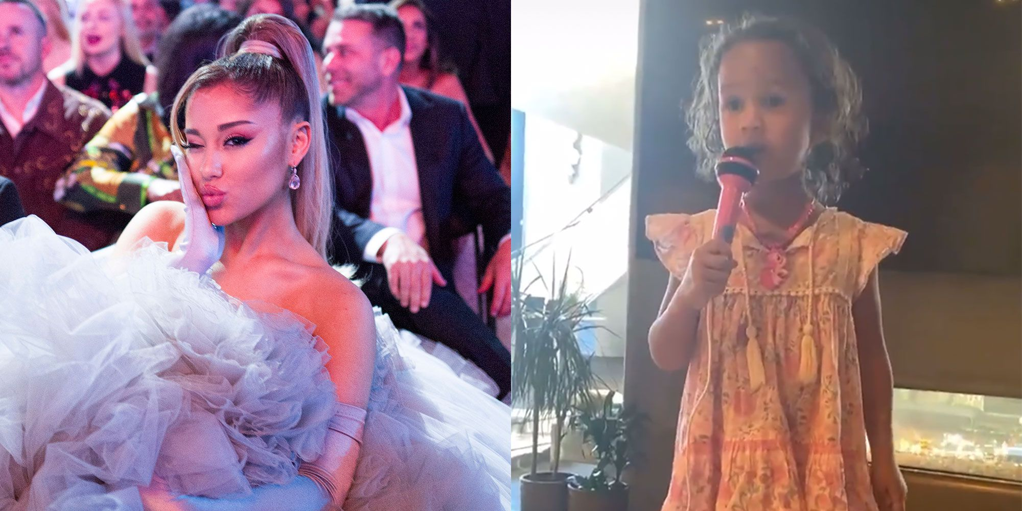 See Ariana Grande S Reaction Chrissy Teigen S Daughter Luna