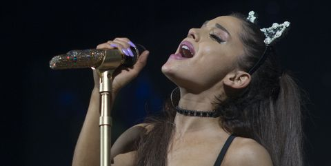 Ariana Grande sings her heart out