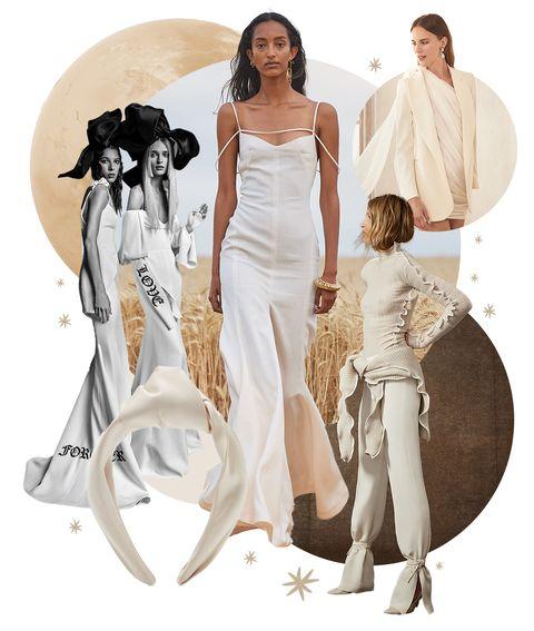 jacquemus, oscar de la renta, vera wang, danielle frankel wedding gowns eugenia kim headband