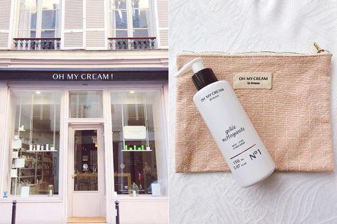 パリのビューティーの大好きなお店といってまず思い浮かぶのが、oh my cream httpswwwinstagramcomohmycream というコスメのセレクトショップ。世界各国からセレクトされたスキンケア、コスメが所狭しと並び、美容好きにはたまらないお店。引っ越してきてから見つけて大好きになったお店、お散歩がてらショップに見にいくのが私の定番。こちらのオリジナルのスキンケアシリーズも大好きで、中でもジェル洗顔は朝洗顔をする際に愛用しています。さっぱりとした使い心地はお肌を優しく洗い流すことができるのでオススメです。オリジナルのポーチも可愛いのでお土産にも喜ばれます。