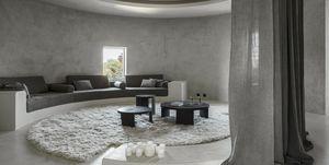 Casa marrón circular rústica moderna
