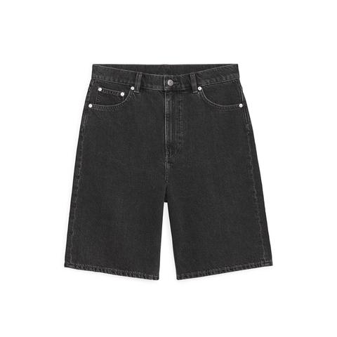 korte spijkerbroek met donkere wassing
