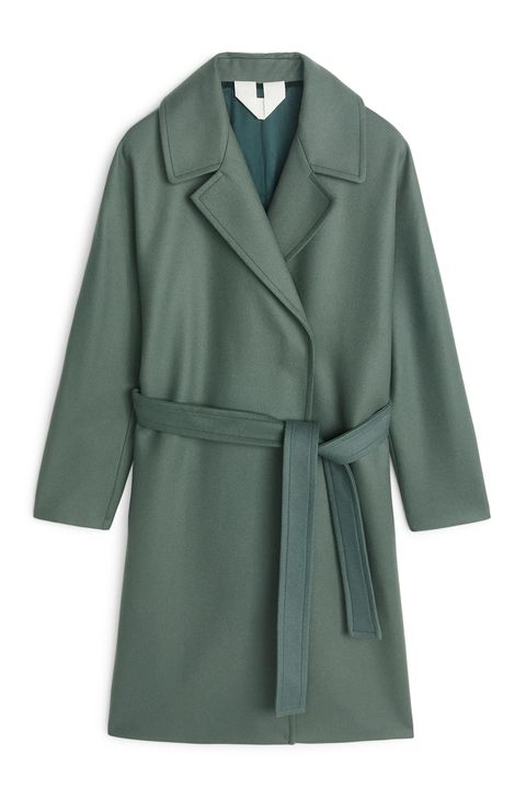 Arket green coat