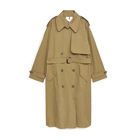 arket oversized trench coat