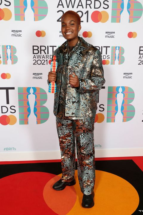 london, england   may 11 arlo parks, winner of the breakthrough artist award poses in the media room during the brit awards 2021 at the o2 arena on may 11, 2021 in london, england photo by jmenternationaljmenternational for brit awardsgetty images