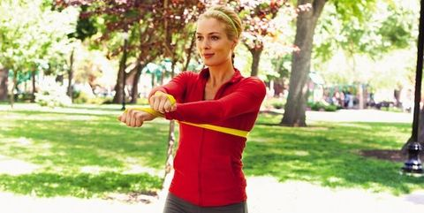 upper arm,workout,resistance band