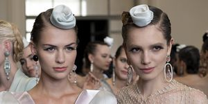 Armani Prive Couture AW19 Front Scrunchie Hair