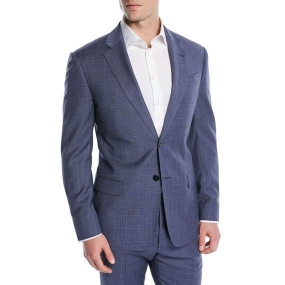 emporio armani two piece wool suit