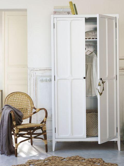 Furniture, White, Room, Cupboard, Door, Wardrobe, Interior design, Table, Floor, Chair,
