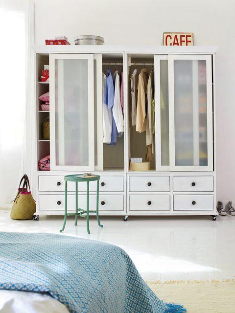 Furniture, Room, Cupboard, Bedroom, Wardrobe, Door, Chest of drawers, Interior design, Drawer, Bed,