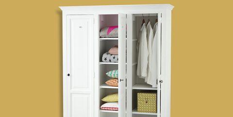 armario blanco con 3 puertas