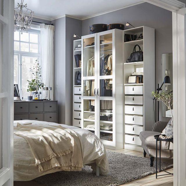 Almacenaje en el dormitorio: Armario modular de IKEA