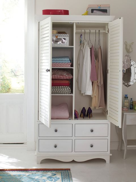 Furniture, Room, Wardrobe, Cupboard, Closet, Drawer, Chest of drawers, Clothes hanger, Pink, Shelf,