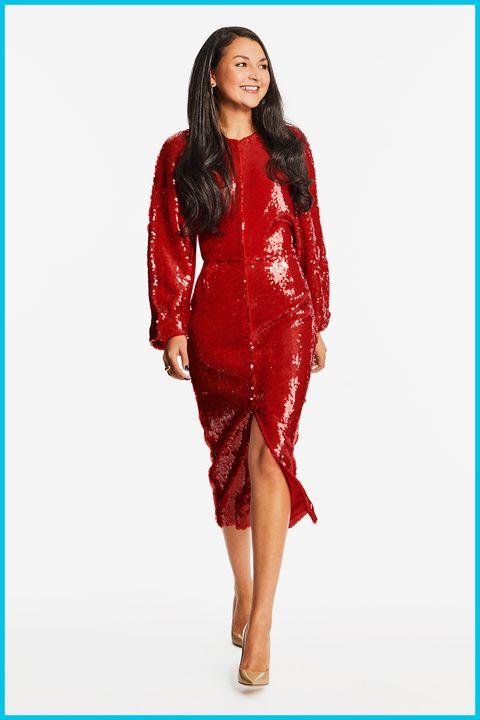 Bekleidung, Modemodell, Oberbekleidung, Ärmel, Kleid, Formelle Kleidung, Langes Haar, Fotoshooting, Taille, Jacke,