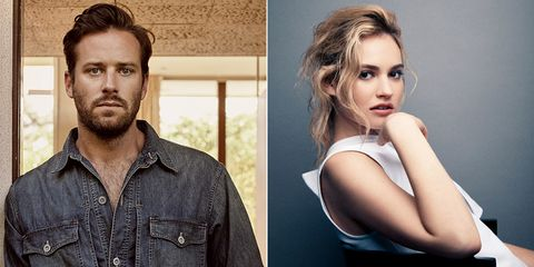 Armie Hammer Lily James