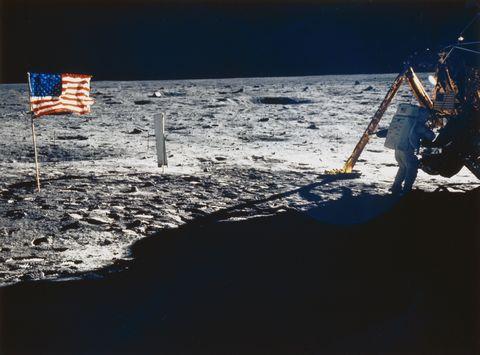 Apollo 11 astronaut Neil Armstrong on the Moon, 1969.