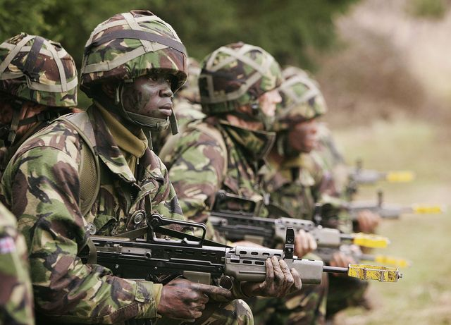 army recruits go through basic training in winchester
