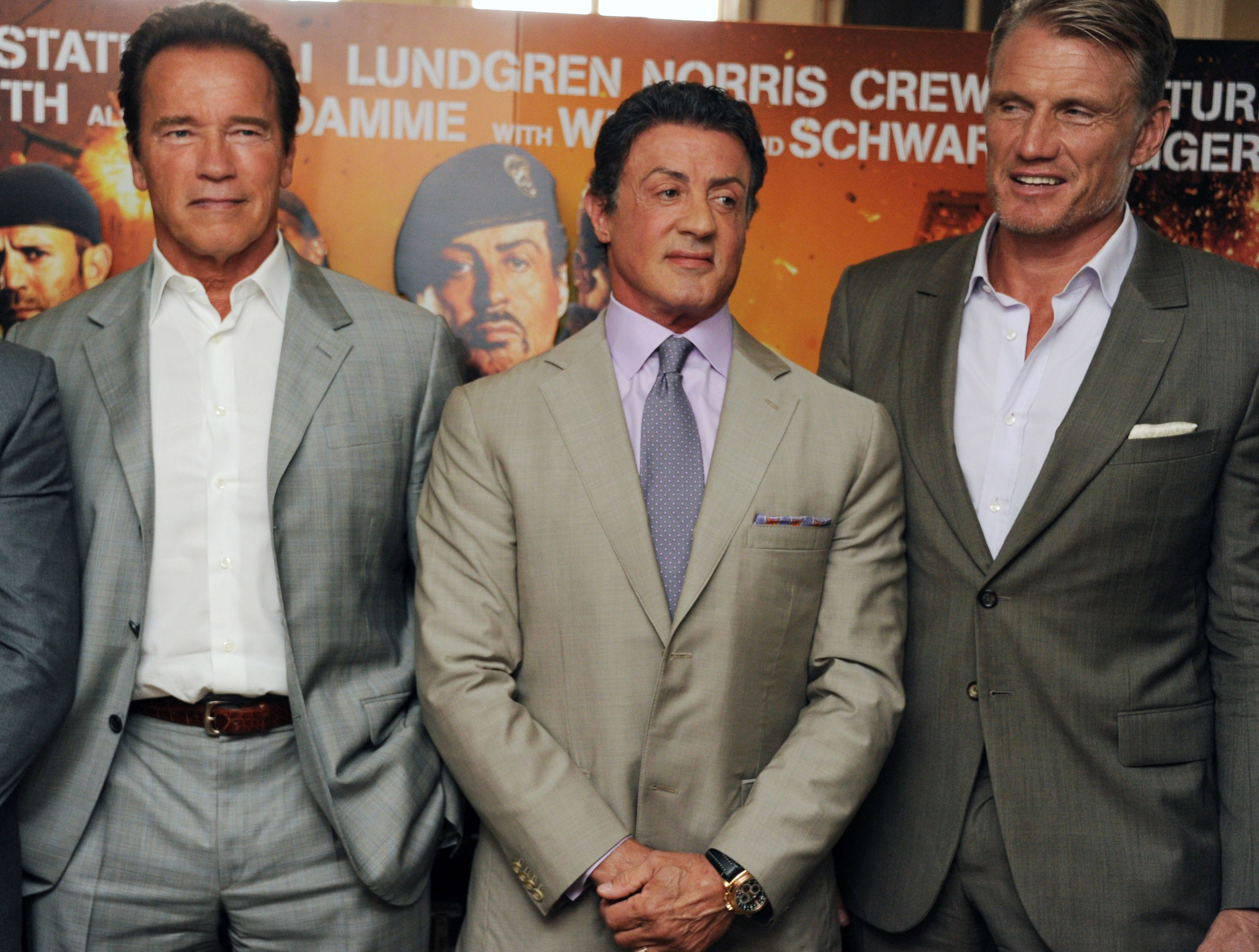 """Arnold Schwarzenegger, Sylvester Stallone y Dolph Lundgren se niegan a madurar """"sin gracia"""""""