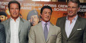 Arnold Schwarzenegger, Sylvester Stallone, Dolph Lundgren