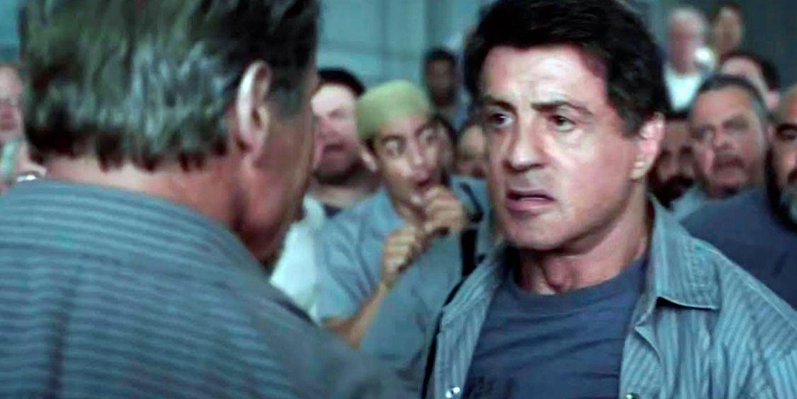 Arnold Schwarzenegger y Sylvester Stallone en Plan de fuga