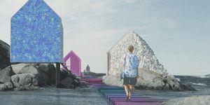 Out of Ocean y el proyecto Plastic Islanda para reciclar el plástico del mar como material de arquitectura