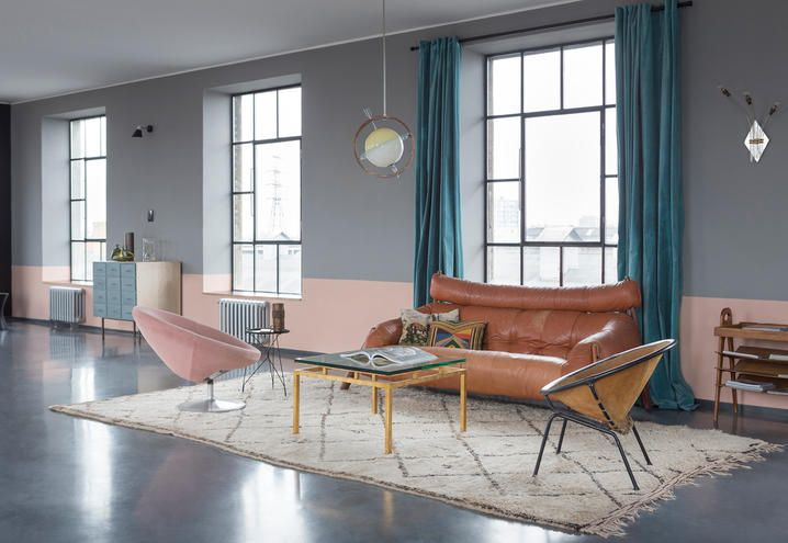 Vintage furnishings in a Budapest loft located in a former weapon ...
