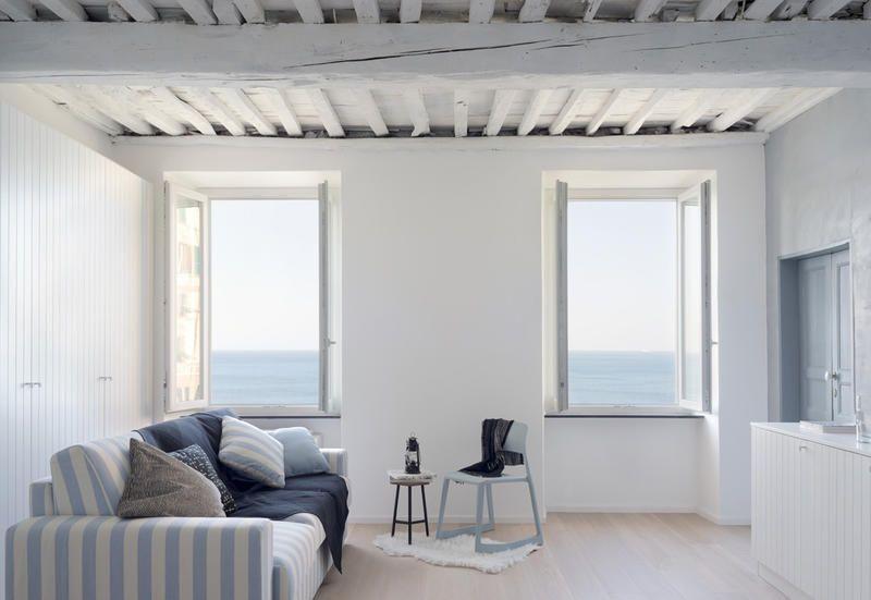 Arredamento Soggiorno Casa Al Mare : Come arredare la casa al mare idee da un appartamento a camogli