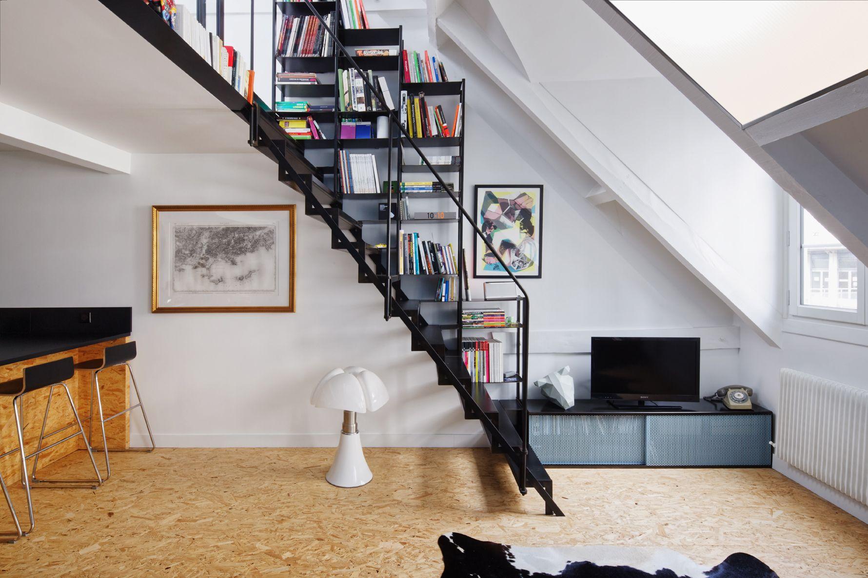 Arredamento in stile industriale per un attico a parigi