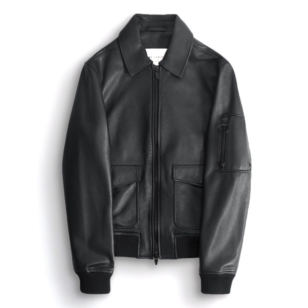 The Arrivals Ford Leather Bomber Jacket