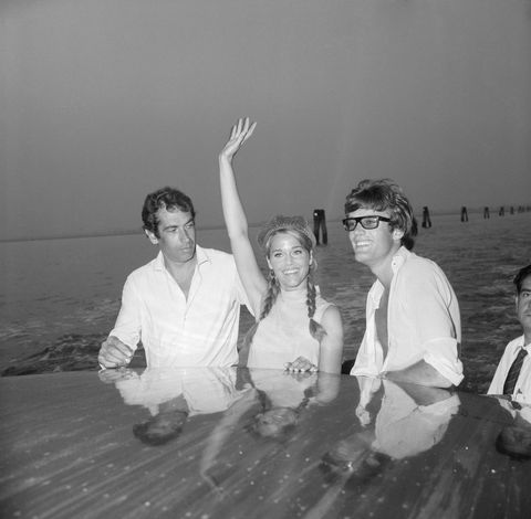 Roger Vadim and Jane and Peter Fonda in Venice