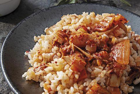 arroz integral con kimchi